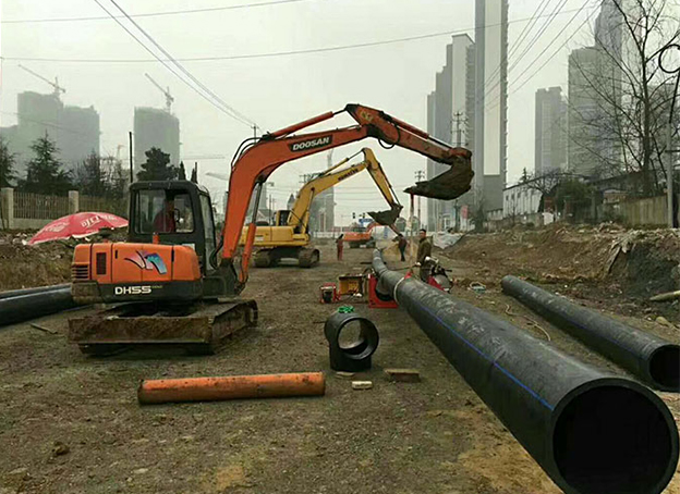 HDPE Pipes for Municipal Water Supply Reconstruction Projects